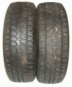 Used Pair Mastercraft Tires 245 70r17 Courser Msr Studded Snows 110s 2457017