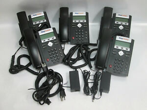 5 Lot Polycom Soundpoint Ip 335 Business Telephones Handsets Stands Ring Central
