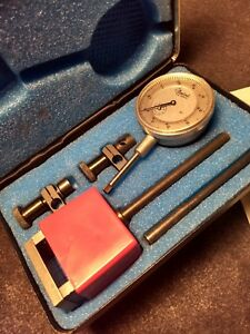 Vintage Central Tool Company Dial Indicator Gauge Gage Set