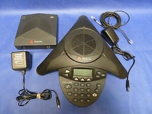 Polycom Soundstation 2w Ex W Base And Ac Adapters Ss2w Tested 2201 67880 160