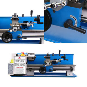 Precision Mini Metal Lathe Metalworking Diy Processing Variable Speed 7 x14 Mt3