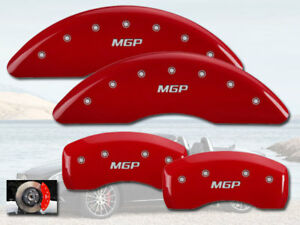 2014 2017 Mercedes Benz S550 Front Rear Red Mgp Brake Disc Caliper Covers 4p