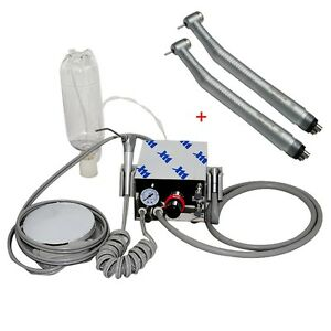 Us Portable Dental Turbine Unit Air Compressor 2 fast Speed Handpiece Push 4h