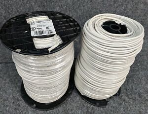 1000 2 Rolls 12awg Mtw Tew E51583 Stranded 600vac Moist Res White Wire