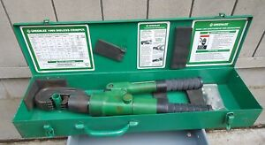 Greenlee Model 1989 Manual Hydraulic Dieless Crimper Hand Crimping Tool