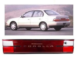 93 97 Toyota Corolla 1993 1997 Tail Lights Ae100 Ae102 Trunk Piece