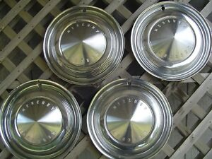 1962 62 1963 63 Mercury Meteor Comet Monterey Hubcaps Wheel Covers Center Caps