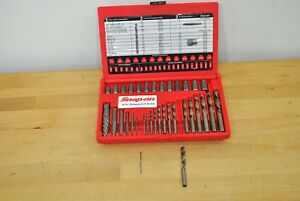 Snap On Tools 35pc Spiral Multispline Screw Extractor L H Cobalt Drill Set Exd35