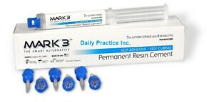 Mark3 Permanent Resin Cement Self Adhesive Self Curing 7ml Syringe Mfg 5380