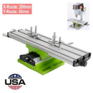 Milling Machine Compound Work Table Cross Slide Bench Drill Press Vise X Y Axis