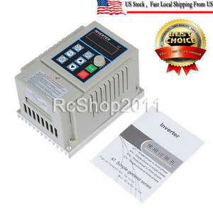 750w Single To 3 phase Motor Governor Variable Frequency Drive Inverter Cnc 220v
