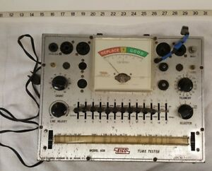 Vintage Eico Tube Tester Model No 628 And Copy Of Manual