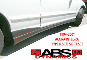 1994 2001 Acura Integra Dc2 Itr Type R Style Side Skirt Set black Unpainted Pp