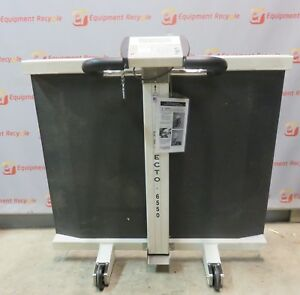 Detecto 6550 Portable Wheelchair Floor Scale Folding With Wheels 800 Lb Capacity