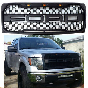 F150 Proven Ground Grille W Ford Lettering Led Lighting Black 2009 2014