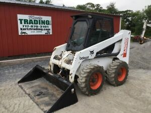 1997 Bobcat 863 Skid Steer Loader W Cab One Owner Machine