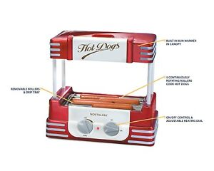 Hot Dog Maker Sausage Roller Cooker Machine With Bun Warmer Combo Accessories