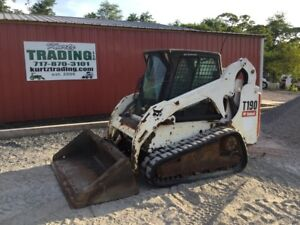 2007 Bobcat T190 Tracked Skid Steer Loader W Cab Joysticks