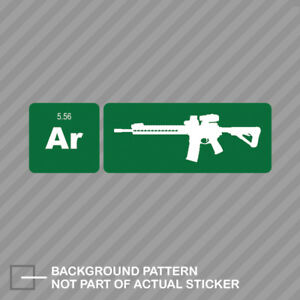 Ar15 Element Periodic Table Green Sticker Decal Vinyl Ar 15 2a 2nd