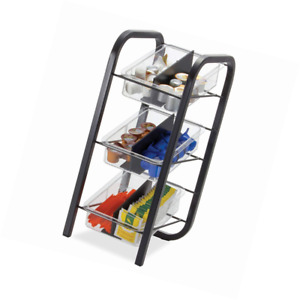 Officemate Breakcentral Breakroom 3 Tier Condiment And Coffee Pod Organizer Bla