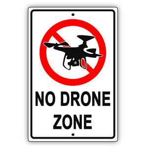 No Drone Zone Federal Aviation Administration Restrictions Aluminum Metal Sign