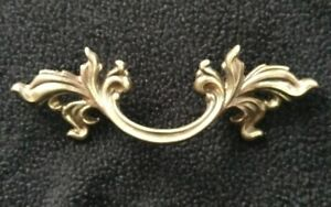 1 Vtg French Provincial Drawer Pulls 3 Bore Keeler Brass Company N4576