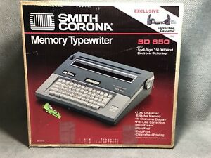 Smith Corona Sd 650 Spell right Dictionary Electric Typewriter New Old Stock