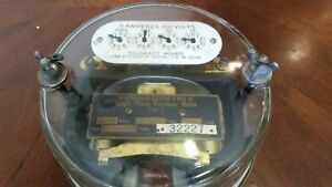 Antique 1910 Westinghouse Electric Single Phase Watthour Meter Brass Badge