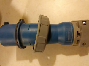 Hubbell Hbl330p6w 2 p 3 w Pin And Sleeve Plug Blue 1 Avlb