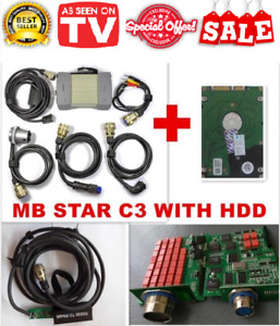 Multiplexer Mb Star C3 Full Set Mb Diagnostic Cables software With Internal Hdd