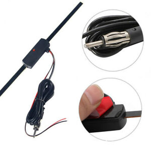 Hot Electronic Stereo Am Fm Radio Car Hidden Amplified Antenna Kit 12v Universal
