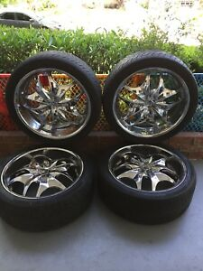 22 Inch Chrome Rims And Tires Used