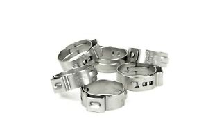 New 50 Pex Stainless Steel Clamp Cinch Rings Crimp Pinch Fitting 3 4 50pcs