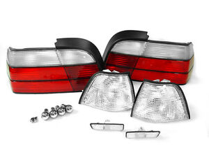 Depo 12 Piece Red clear Corner tail side Marker Light For 97 99 Bmw E36 2d Coupe