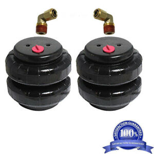 2 Air Bags 2500 Lb With 1 2 Hose Elbow For Truck Tow Kit Air Ride Suspensionxzx