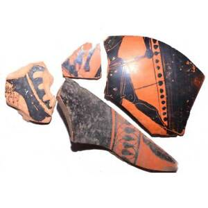 A Group Of Attic Vase Fragments Ca 5th 3rd Century Bc
