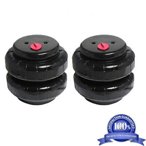 Air Ride Suspension Air Bags Pair Standard 2500 1 2 npt Kit Replacement Part Xzx