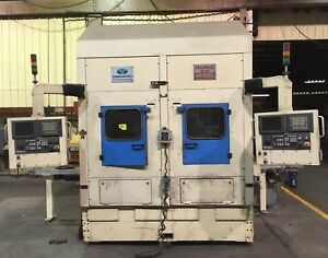 Weisser Model H2 Vertical Twin Spindle Cnc Lathe