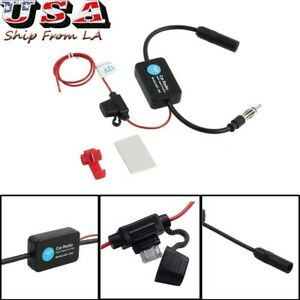 12v Auto Antenna Fm Am Radio Signal Amplifier Booster Strengthen Ant 208 25db