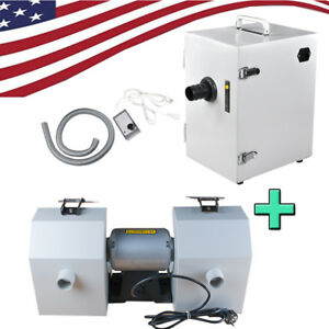 Polishing Unit Polisher Buffing Grinder Jewelry dental Single row Dust Collector