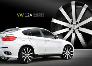 18 Inch Velocity V12 Black Mach Wheel Rims Tires Fit 5 X 114 3 Special Offers