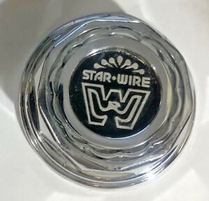 1 Used Cragar Star Wire Center Cap Wheels Rim 30 Spoke 602 6123 Vintage Chrome