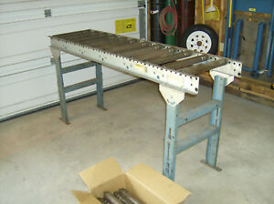 6ft Gravity Roller Conveyor Adjustable Height Supports