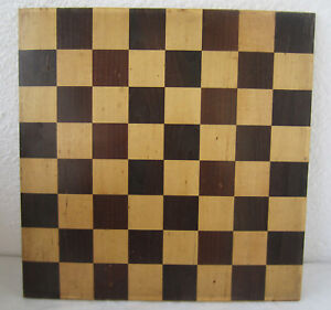 13 Antique Vintage Wooden Chess Checkerboard Game Two Sided Board