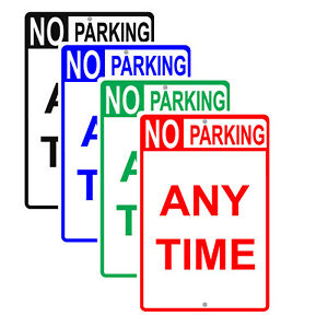 No Parking Any Time Reserved Spot Funny Novelty Gift Notice Aluminum Metal Sign