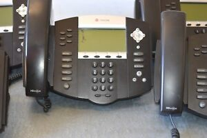 Polycom Ip550 Soundpoint 2001 12550 001 Ip Phones W stands Handsets 5 Units
