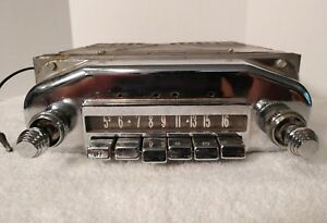 Vintage Rare Original 1957 Fomoco Mercury Am Radio Tested And Light Comes On Vg