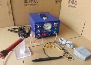 New Hot 80a 400w Pulse Spot Welder Argon Protection Welding Jewelry Only 220v