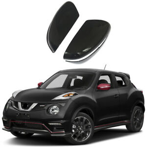 2 Mirror Covers For 2015 2016 2017 Nissan Juke With Turn Signal Hole Gloss Black