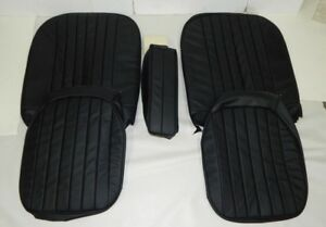 New Black W Black Vinyl Seat Upholstery Set Material For Arm Rest Mga 1955 1962